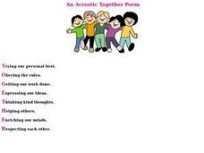 TOGETHER Acrostic Poem Worksheet