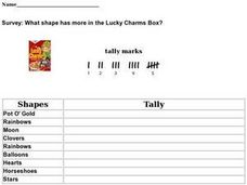Survey: What Shape Has More In the Lucky Charms Box? Worksheet