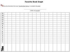 Favorite Book Graph Worksheet
