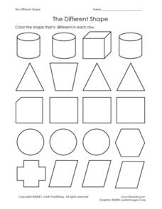 The Different Shape Worksheet
