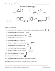 Secret Message: Worksheet #1 Worksheet