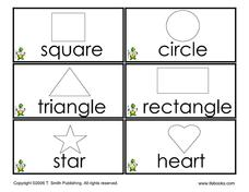Shape Flashcards Worksheet