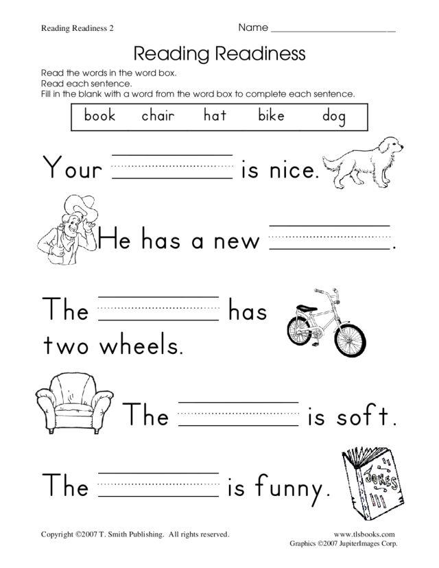 reading readiness worksheet 2 worksheet for kindergarten 1st grade lesson planet. Black Bedroom Furniture Sets. Home Design Ideas