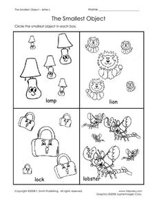 The Smallest Object L Worksheet