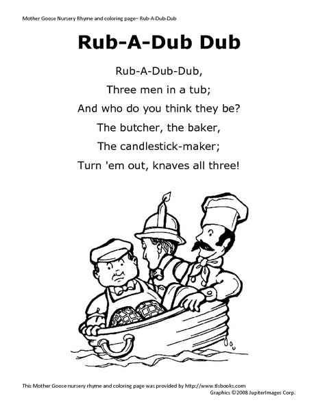 rub-a-dub dub worksheet for pre-k