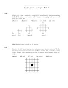 Lengths, Areas and Shapes - Week 9 Worksheet