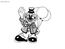 Clown Picture Worksheet