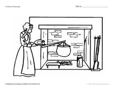 Cooking Coloring Page Worksheet