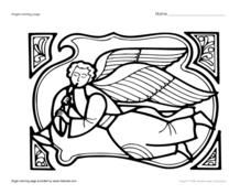 Angel Coloring Page Worksheet
