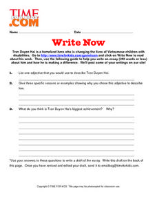 Write Now Lesson Plan