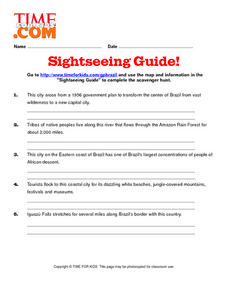 Sightseeing Guide Lesson Plan