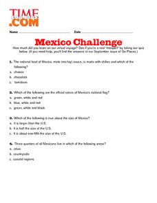 Mexico Challenge Lesson Plan