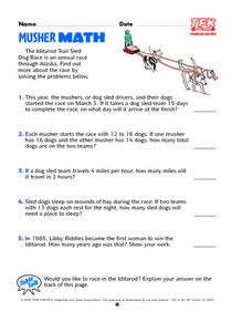 Musher Math Lesson Plan