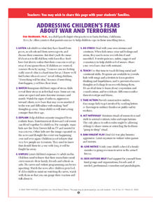 Addressing Children's Fears About War And Terrorism Lesson Plan