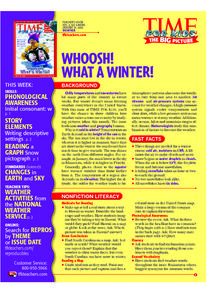 Whoosh!  What A Winter! Lesson Plan