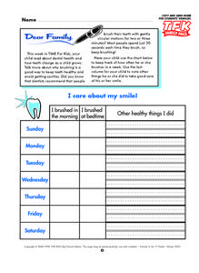 I Care About My Smile! Lesson Plan