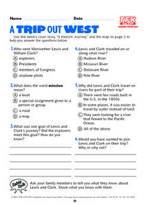 A Trip Out West Lesson Plan