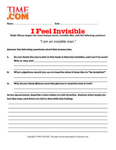 I Feel Invisible Lesson Plan