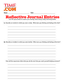 Reflective Journal Entries Lesson Plan