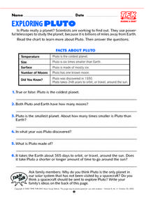 Exploring Pluto Lesson Plan