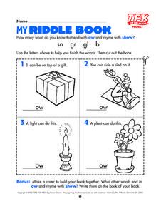 My Riddle Book Lesson Plan