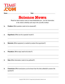 Time For Kids:  Reading Science News Lesson Plan