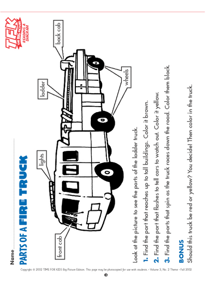 parts of a fire truck lesson plan for kindergarten - 1st grade | lesson  planet  lesson planet