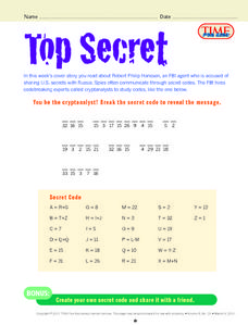 Top Secret Lesson Plan