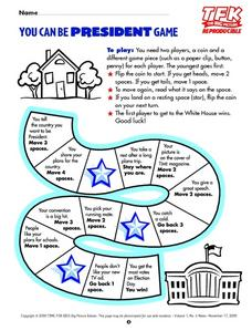 You Can Be President Game Lesson Plan