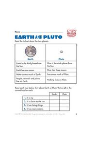 Earth and Pluto Lesson Plan