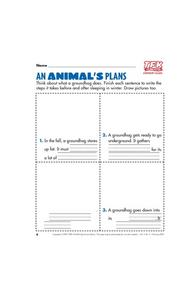 An Animal's Plans Lesson Plan
