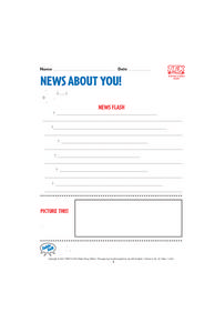News About You! Lesson Plan