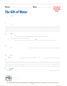 The Gift of Water Lesson Plan