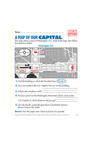 A Map of Our Capital Lesson Plan