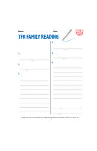 TFK Family Reading Lesson Plan