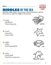 Riddles of the Sea - Time for Kids- Problem Solving Lesson Plan