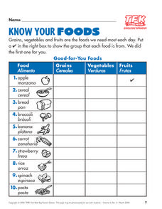 Know Your Foods Lesson Plan