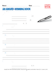 An Award Winning Book Lesson Plan