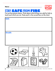 Stay Safe From Fire Lesson Plan