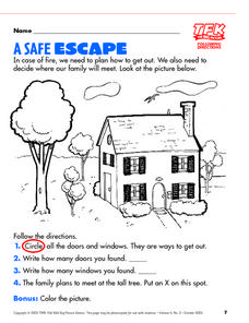 Fire escape plans lesson plans worksheets reviewed by for Fire escape plan worksheet