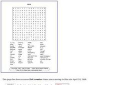 Unix Word Search Worksheet