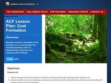 Coal Formation Lesson Plan