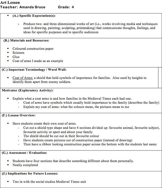 Coat of Arms 4th Grade Lesson Plan – Coat of Arms Worksheet