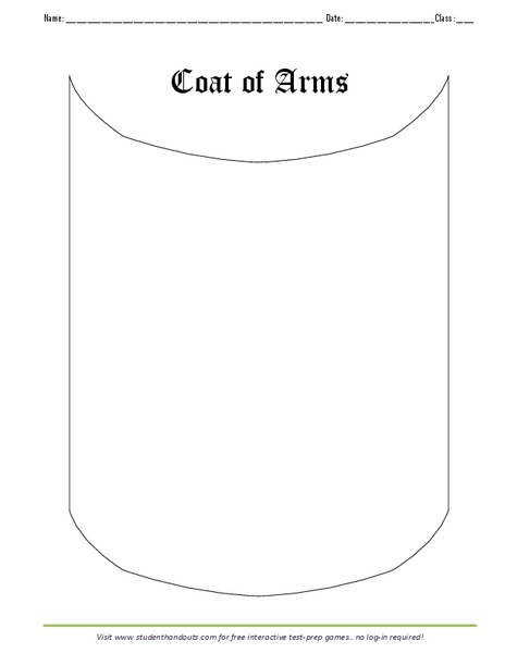 graphic relating to Printable Coat of Arms identify Coat of Fingers Printables Template for Kindergarten - 8th