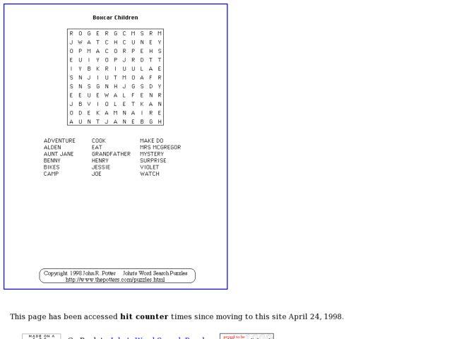 boxcar children worksheets