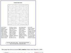 Country Music Puzzle Worksheet