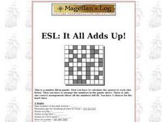 ESL: It All Adds Up! Worksheet