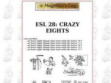 ESL 28: Crazy Eights Worksheet