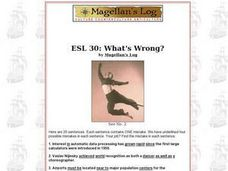 ESL 30: What's Wrong? Worksheet