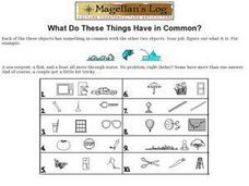 What Do These Things Have in Common? Worksheet